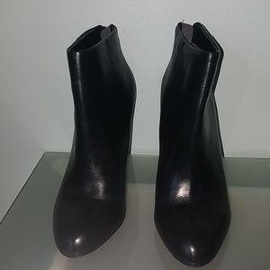 "Sam Edelman Black Leather Ankle Booties - 4"" Heels"